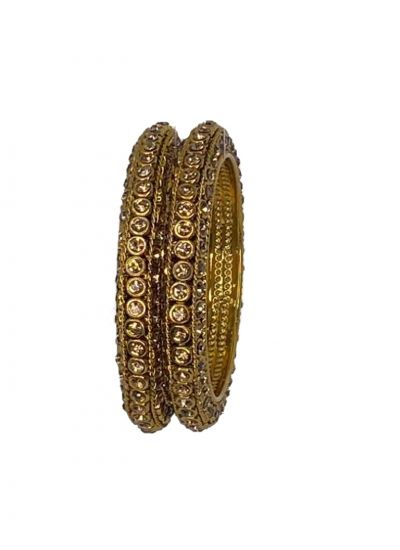 Gold Bangle Pair