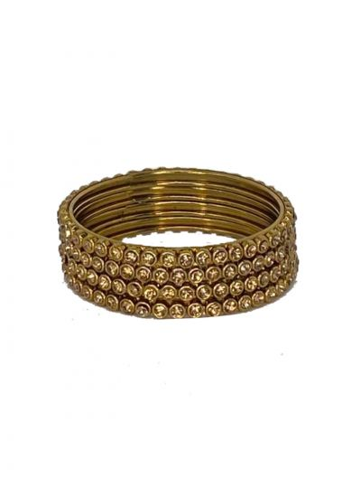 Diamonte Gold Bangle Set