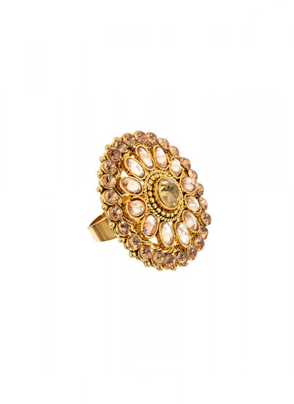 Gold Stonework Ring