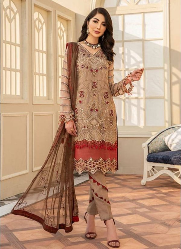 Mouse Brown Embroidered Suit