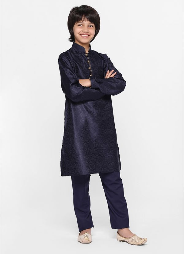 Midnight Tonal Kurta