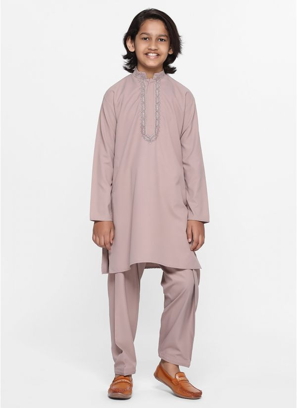 Mauve Threaded Salwar Suit