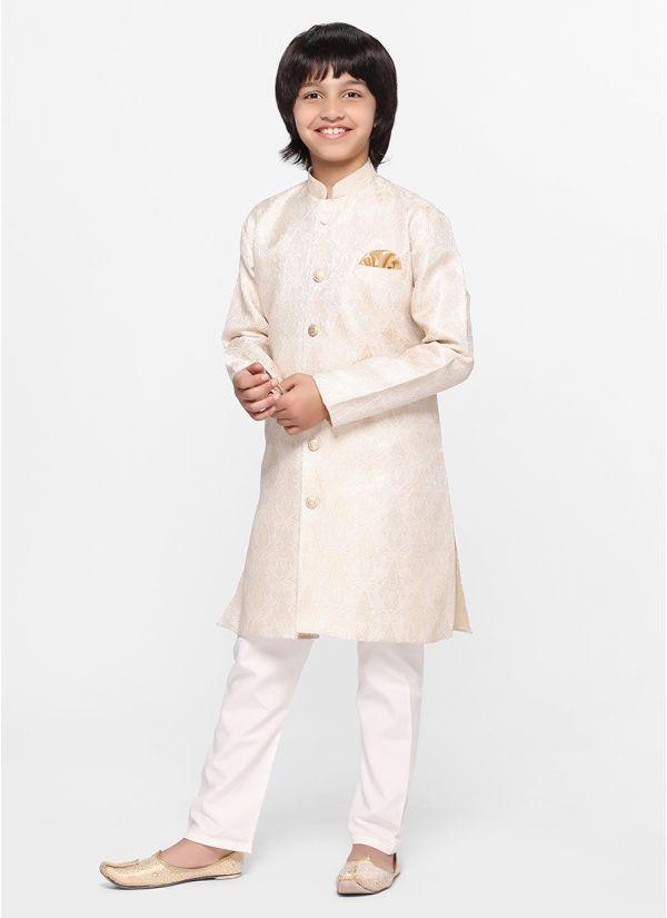 Ivory Jacquard Jacket Set