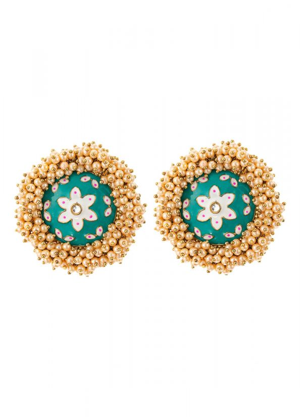 Light Blue Jhumkis