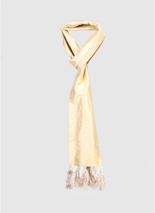 Silk Brocade Edge Scarf