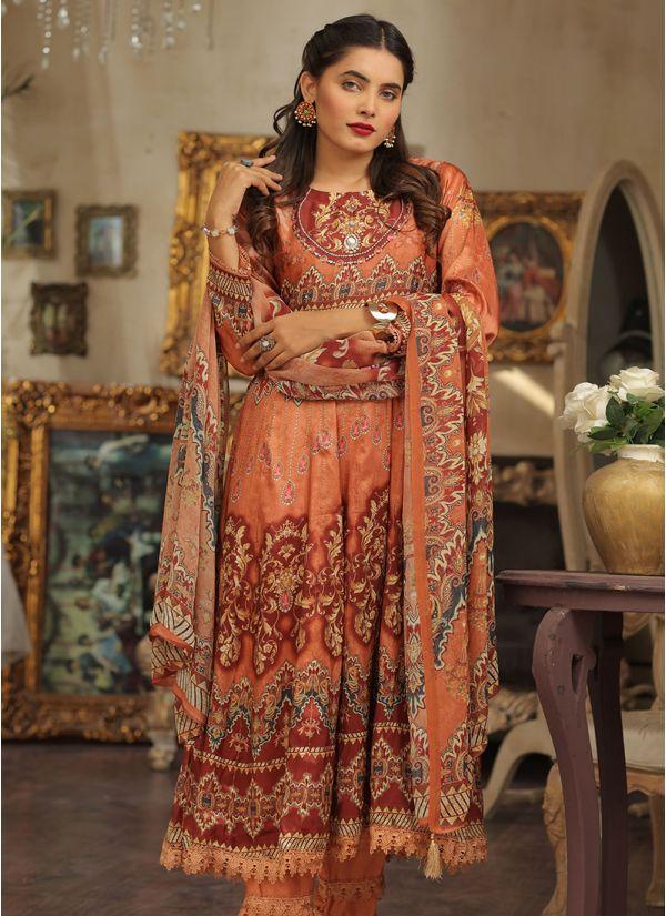 Printed Viscose Pakistani Dress