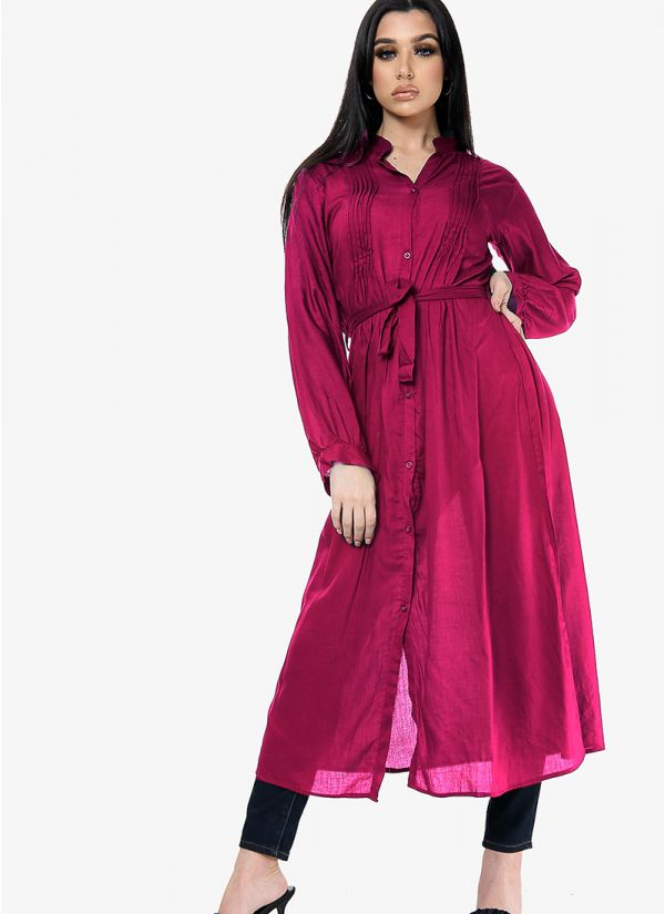 Rayon Shirt Dress