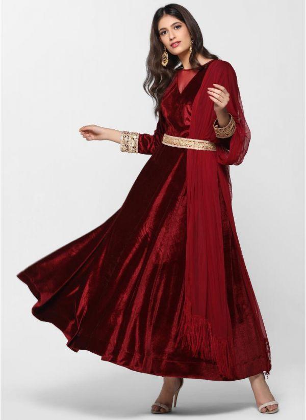 Velvet Flow Dress