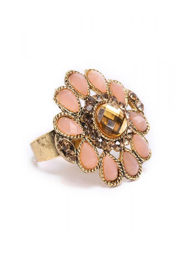 Peach Stone Finger Ring