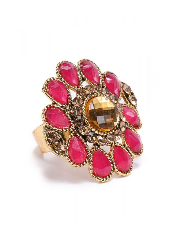 Maroon Stone Finger Ring