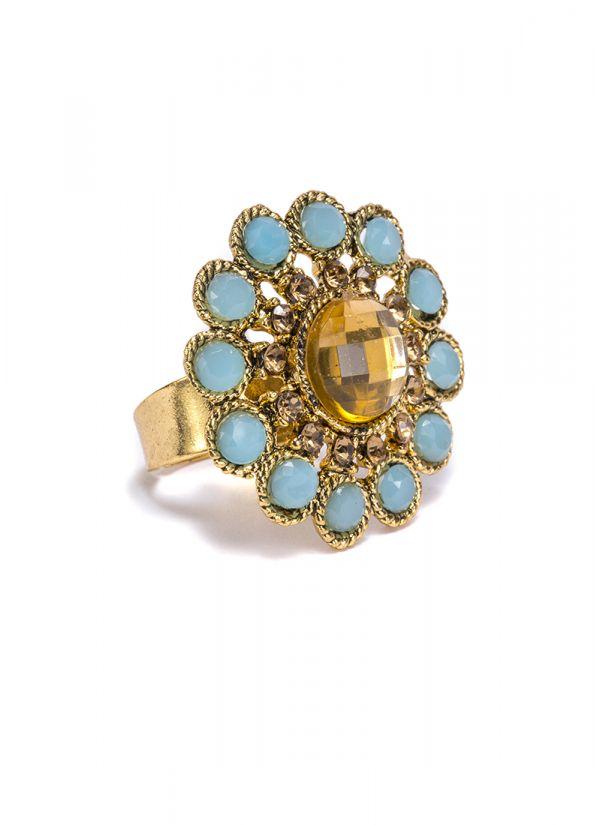 Mint Stone Finger Ring