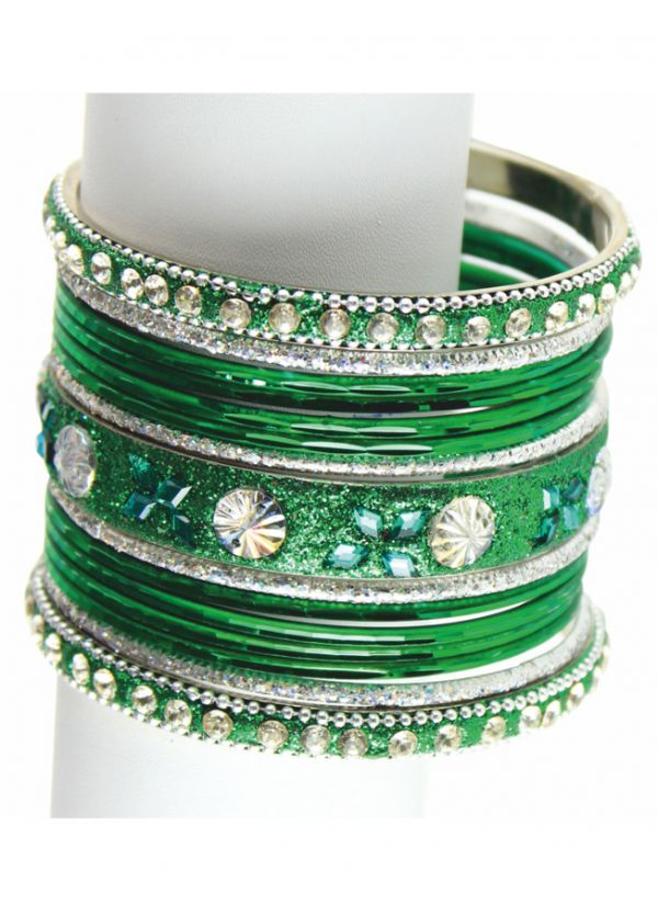 Crystal Intricate Bangle Set