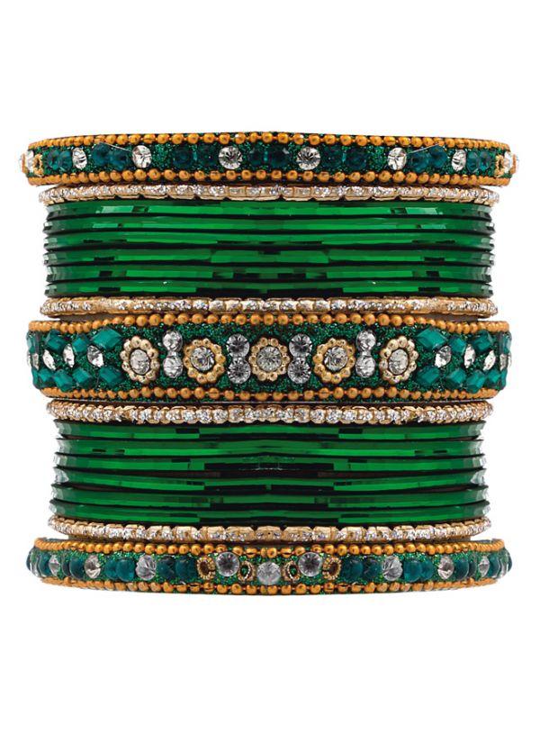 Ornate Studded Bangle Set