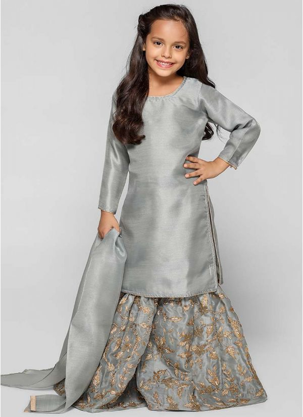 Organza Gharara Dress