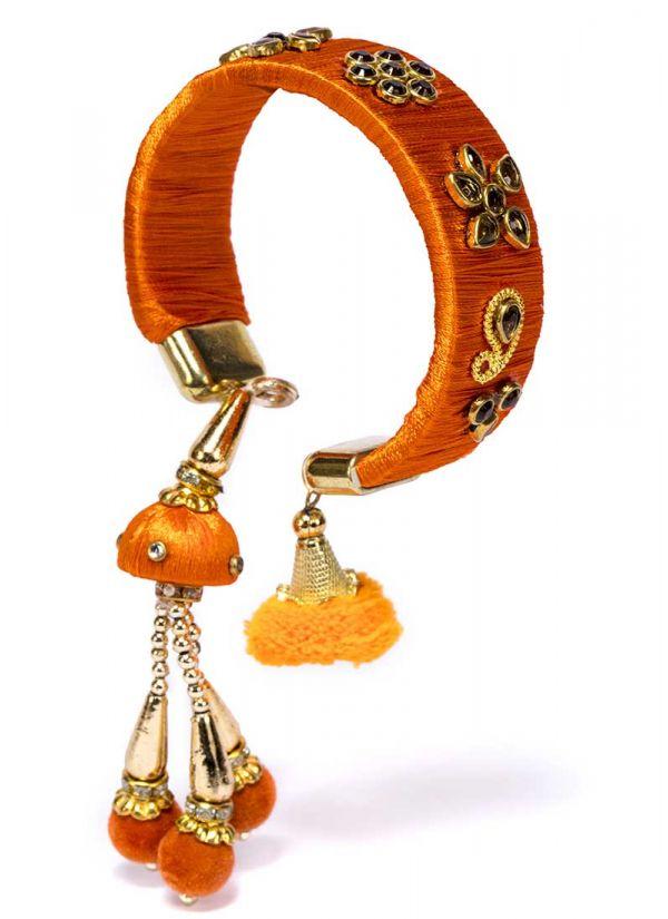 Orange Thread Bracelet