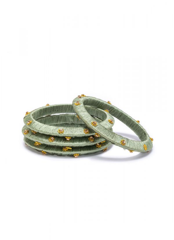 Mint Threaded Bangles