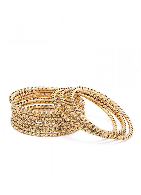 Textured Gold Bangles