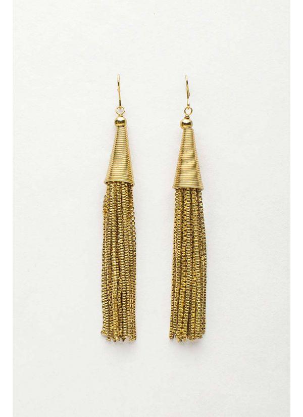 Tassel Link Drop Earrings