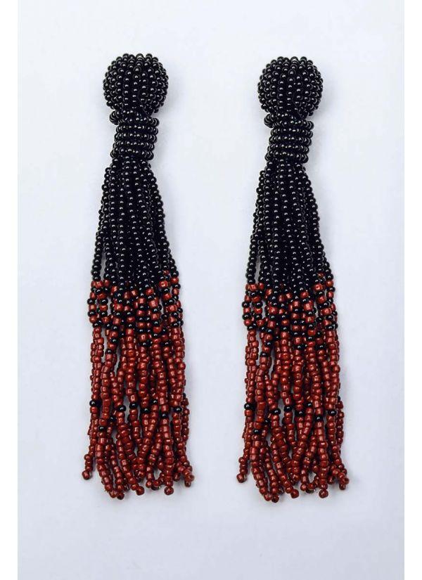 Black & Wine Ombre Chandelier Earrings