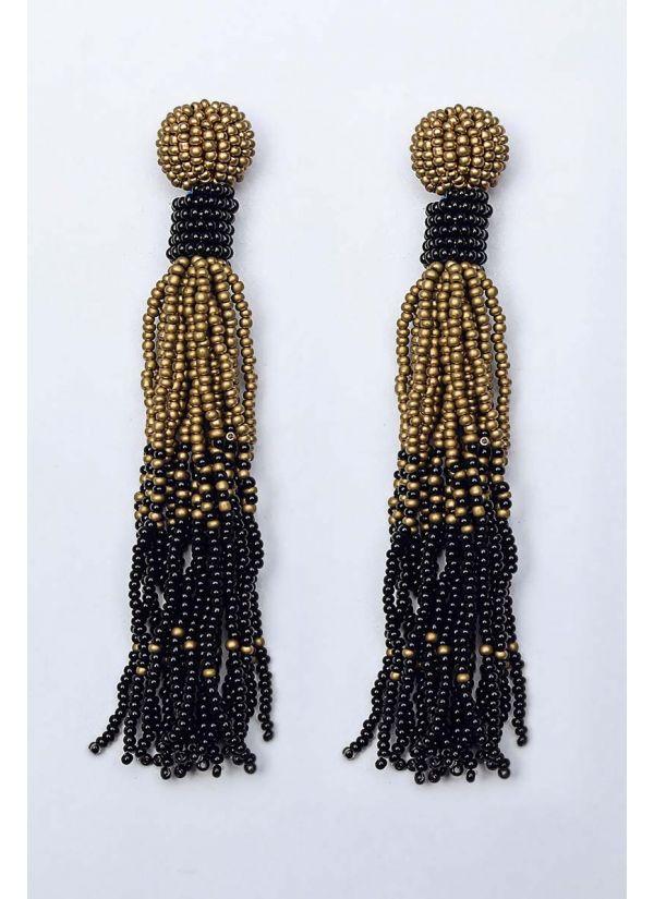 Black & Gold Ombre Chandelier Earrings