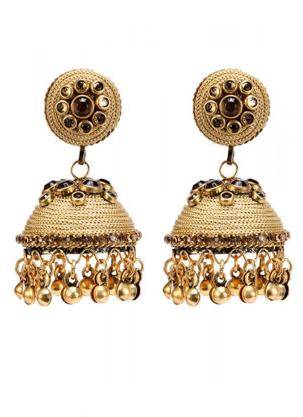 Gold Topaz Earrings