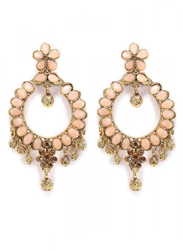 Contemporary Peach Earrings