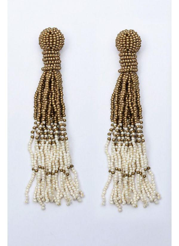 Ivory & Gold Ombre Chandelier Earrings