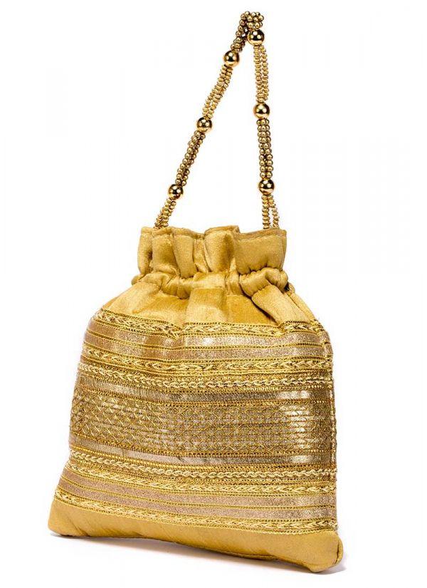 Gold Zari Potli