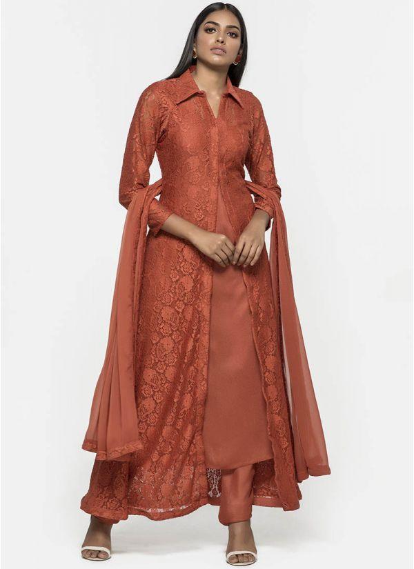 Bronze Lace Jacket Dress