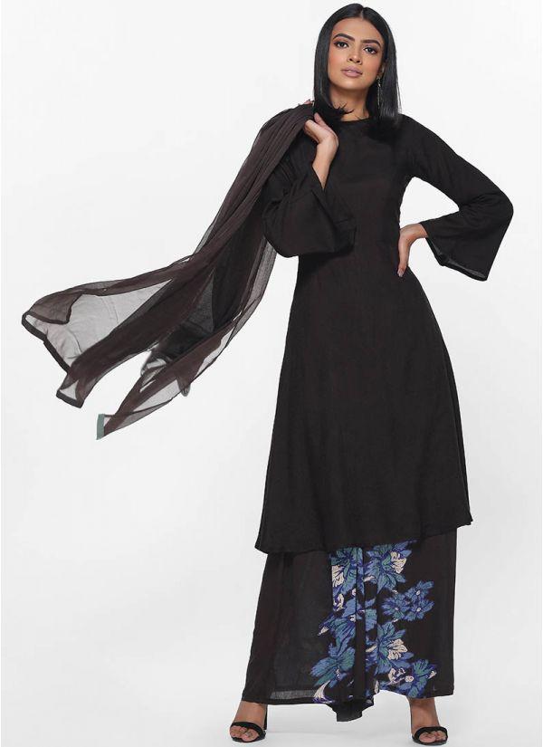 Bold Anemone Printed Dress