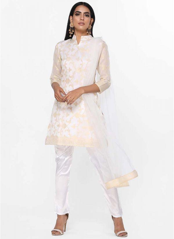 Jacquard Zari Shift Dress