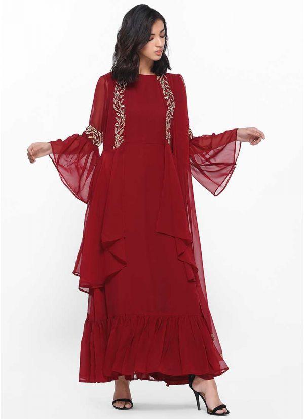 Ruby Asymmetric Sheer Dress