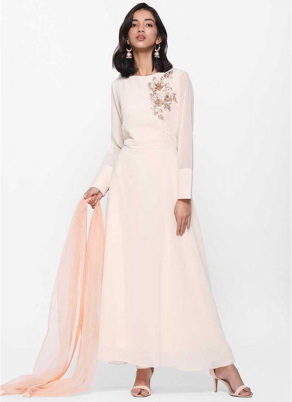Copper Pearl Flow Dress