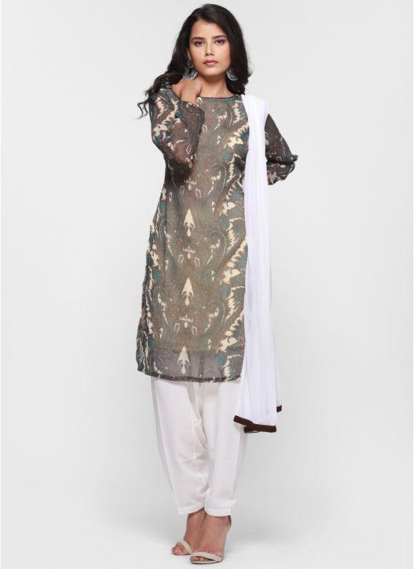Paisley Print Salwar Suit