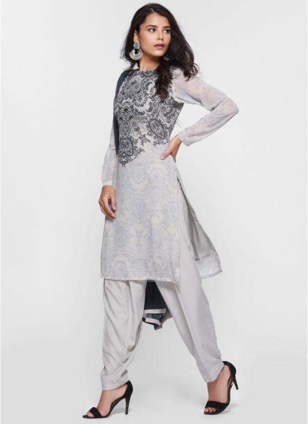 Yoke Print Salwar Suit