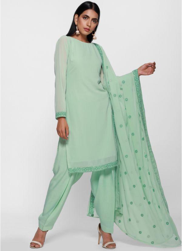 Elegant Embroidered Dupatta Salwar Suit