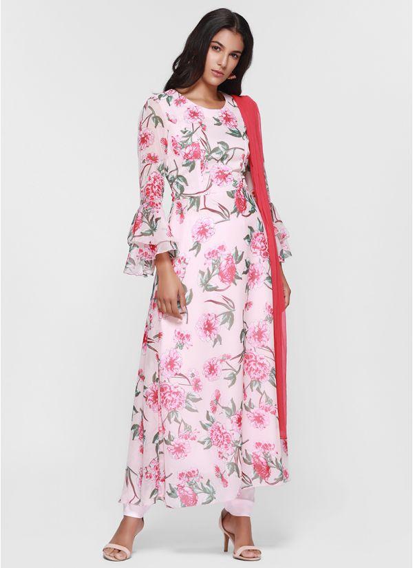 Pretty Floral Flow Dress Set
