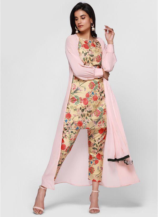 Pretty Floral Jacket Co-Ord Suit