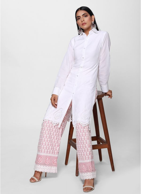 Chikankari Shirt Suit Set