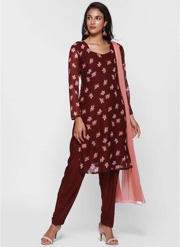 Classic Floral Salwar Suit