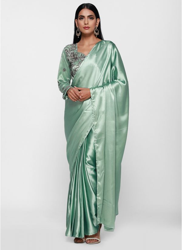 Trendy Stitched Saree Gown