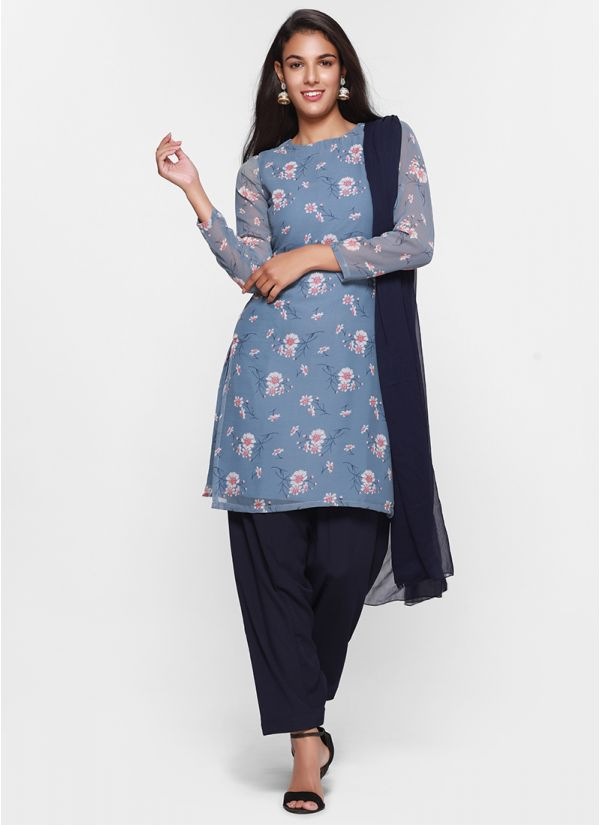 Ditsy Floral Print Tonal  Salwar Suit
