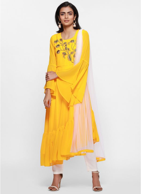 Sunshine Frill Detail Flow Dress Set