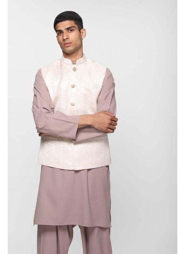 Ivory Silk Quilt Waistcoat