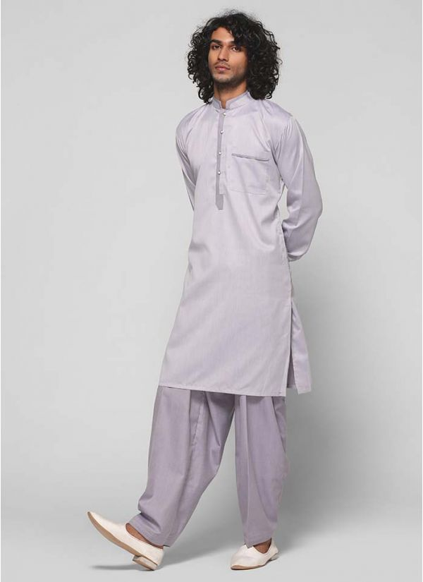 Band Collar Threaded Kurta Salwar