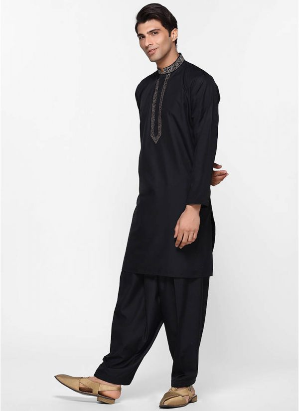 Black Threaded Salwar Suit