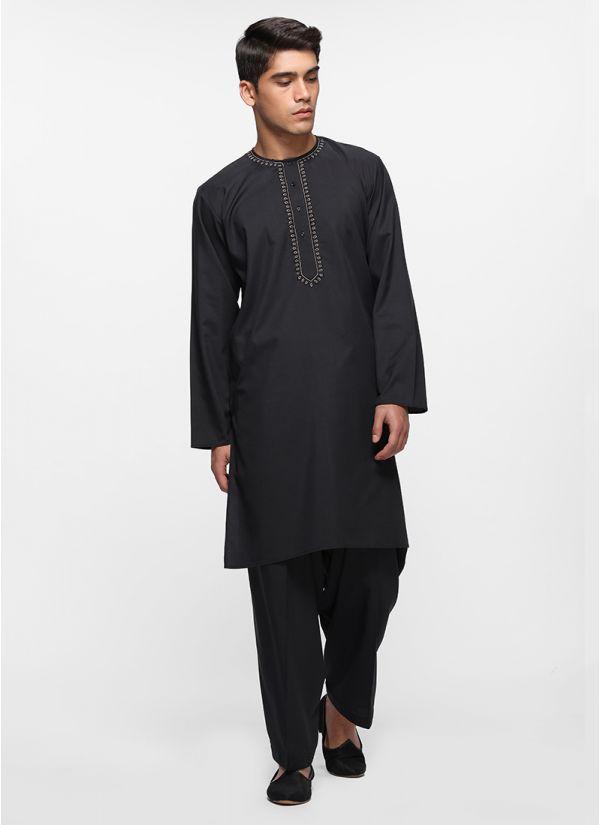 Noir Threaded Salwar Set