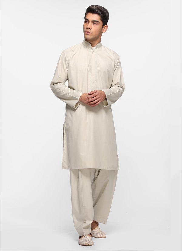 Sand Threaded Salwar Suit