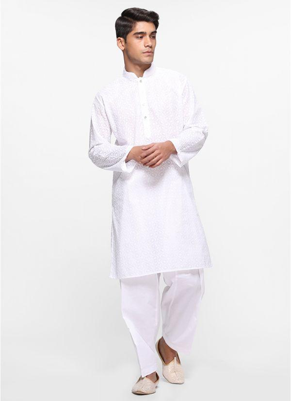 Chikan Cotton Salwar Set