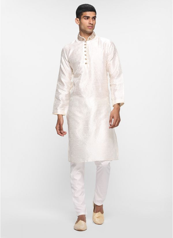 Self Jacquard Kurta Set